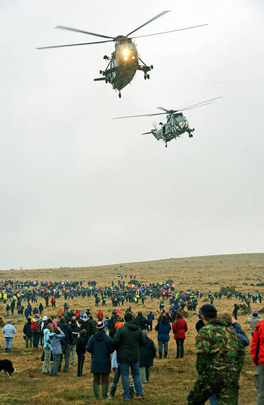 Competitors start the Ten Tors. Photo: Sergeant Danny Harmer, Crown Copyright