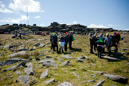 Ten Tors participants on the event. Photo: Adrian Harlen/MoD/Crown Copyright
