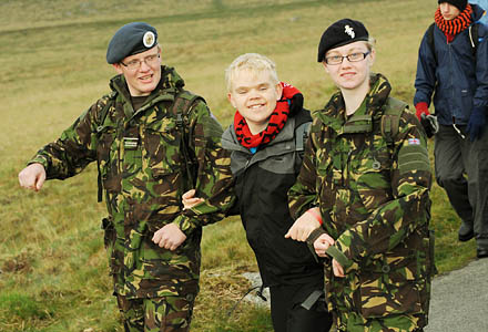 Competitors in the Jubilee Challenge. Photo: Sergeant Adrian Harlen, Crown Copyright