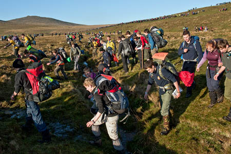 The mass start of the Ten Tors. Photo: Adrian Harlen/MoD/Crown Copyright