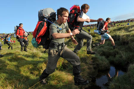 The Ten Tors tests teens' commitment and determination . Photo: Sergeant Adrian Harlen/MoD/Crown Copyright