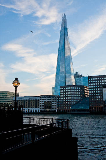 The Shard on London's South Bank