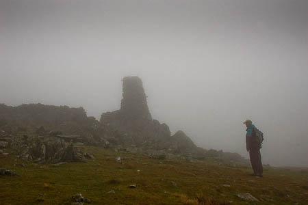 The summit cairn on Thornthwaite Beacon. Photo: Jim Barton CC-BY-SA-2.0
