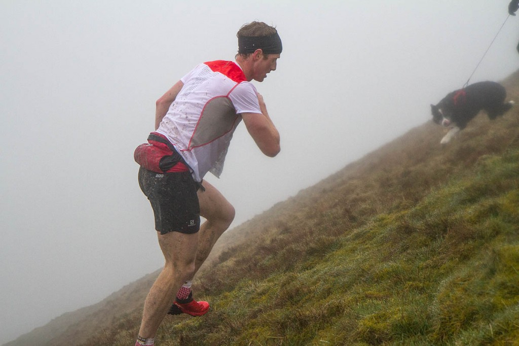 Winner Ricky Lightfoot approaches Whernside summit