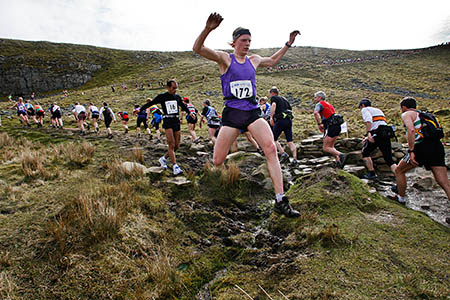 The tough Three Peaks Race is described as a 'marathon with mountains'