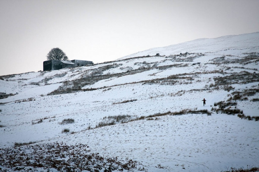 Conditions on the Pennine Way are tough as winter takes a hold on the hills