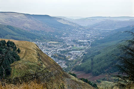 The area around Treherbert where the search was mounted. Photo: Kev Griffin CC-BY-SA-2.0