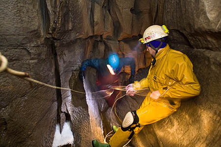 The grant will enable cavers to practise techniques above ground