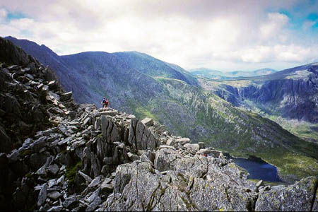 The woman was airlifted after falling from Tryfan's North Ridge. Photo: Richard Webb CC-BY-SA-2.0
