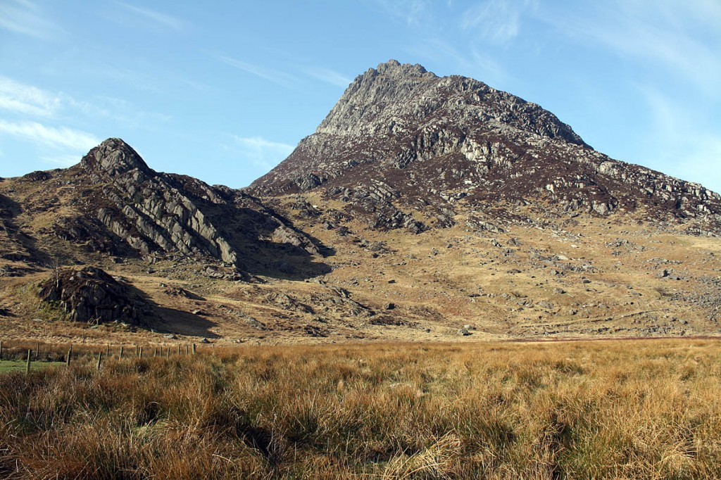 The two climbers were on a route on Tryfan
