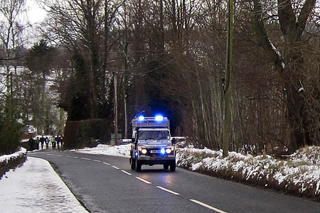 One of the Tweed Valley vehicles en route to the sledging incident. Photo: Tweed Valley MRT