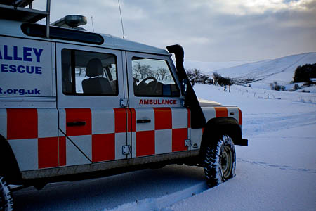 One of the team's vehicles at The Spine search area. Photo: Tweed Valley MRT