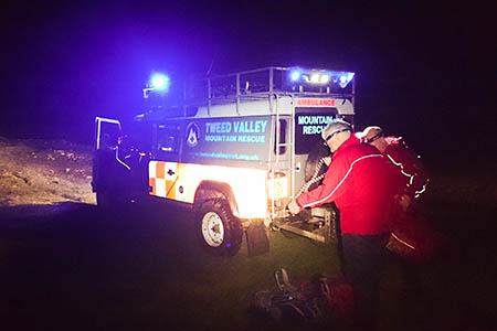 Tweed Valley Mountain Rescue Team members in action. Photo: TVMRT