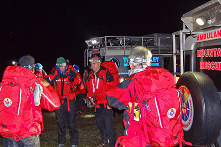 Tweed Valley Mountain Rescue Team was joined by volunteers from two other teams. Photo: TVMRT