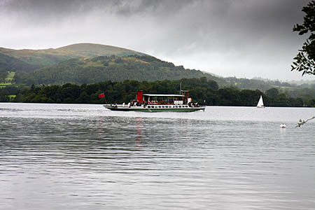 Ullswater Steamer vessels joined the search on the lake
