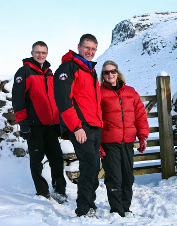 The High Sheriff of North Yorkshire, Alexandra Holbrook, joins UWFRA surface leader Phil Nelson and chairman Ian Hook
