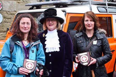From left: Caroline Ray, High Sheriff Alexandra Holford, Mary Arber. Photo: Nigel Hutchinson/UWFRA