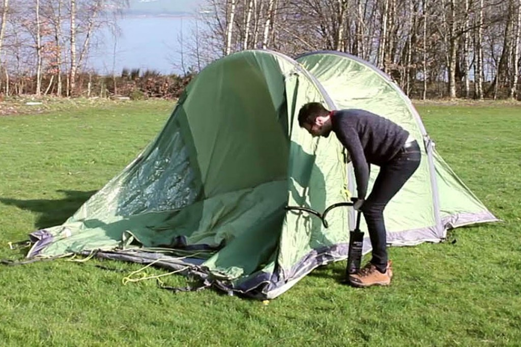 How fast can you pump up a Vango tent?