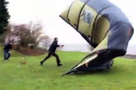 The Vango AirBeam takes off & grough u2014 Tent team versus Hurricane Bawbag: level pegging?