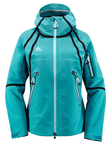 The women's version of the Vaude Alpamayo jacket