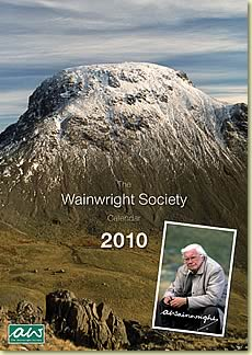 The Wainwright Society calendar features a cover by Derry Brabbs