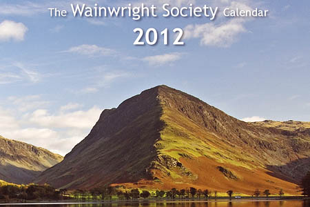 The calendar's front page features a view of Fleetwith Pike across Buttermere