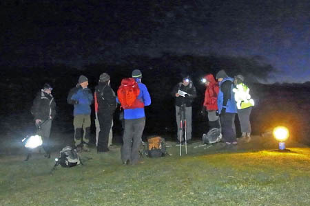 Wainwright Society members on Latrigg