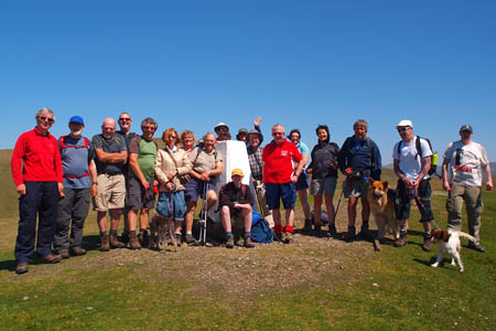 Wainwright Society members on Winder in the Howgills