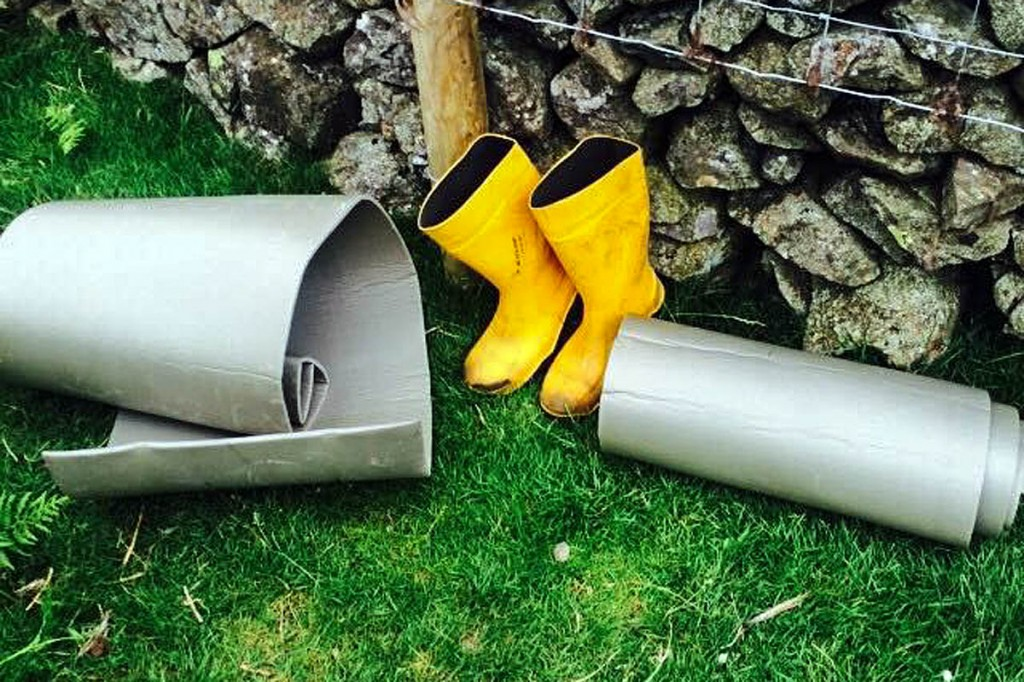 Discarded wellies and sleep mats were among rubbish found on the fell. Photo: Wasdale MRT