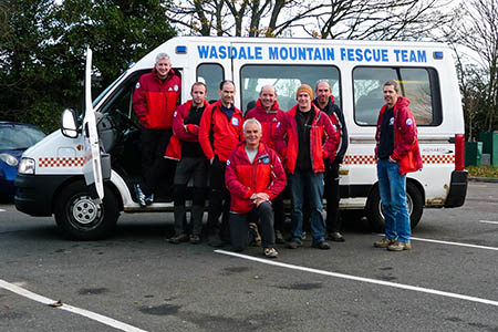 The rescuers made the long trip to Essex. Photo: Wasdale MRT