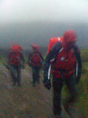 Wasdale MRT members head out to the lost couple