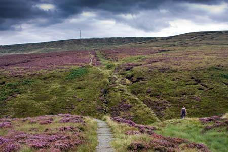 The Pennine Way on Wessenden Head Moor, scene of today's rescue