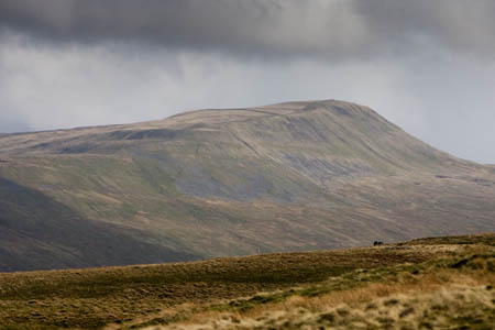 Whernside yesterday, scene of the Fellsman rescue