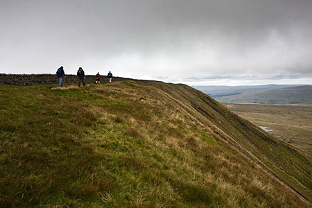 The walkers were stretchered from Whernside's summit ridge