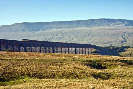 Whernside, with the Ribblehead Viaduct in the foreground