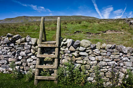 Use the stile to access the old direct path up Whernside