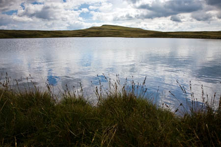 One of the Whernside Tarns, with the summit in the distance