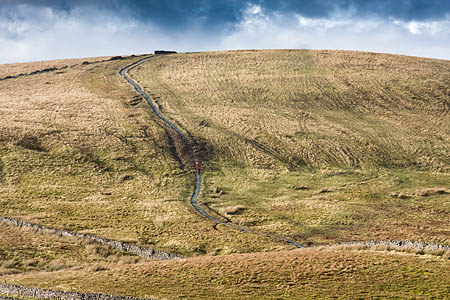 The path rises from the Pennine Way at Tarn Bar to climb Whitber Hill