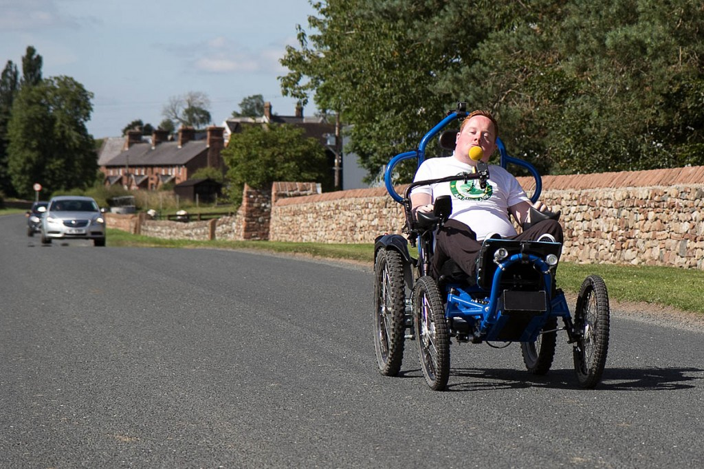 Will Clark will tackle the 100-mile route on his battery-powered bike. Photo: Leah Parker-Turnock