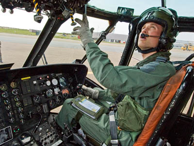 The duke was formerly an RAF search and rescue helicopter pilot. Photo: Flight Sergeant Andy Carnall/MoD
