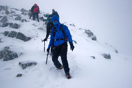 Hillwalkers in Scotland are still likely to encounter snow. Photo: MCofS