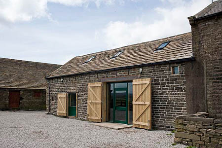 The refurbished barn at Hepshaw Farm
