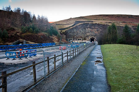 The Bleaklow audio trail includes information on the Woodhead Tunnels, which now carry electricity cables