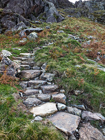 The repaired Yewbarrow path