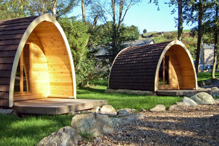 The camping pods at Grinton Lodge